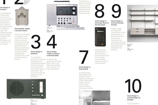 vitsoe x dieter rams 10 principles for good design poster hypebeast. Black Bedroom Furniture Sets. Home Design Ideas