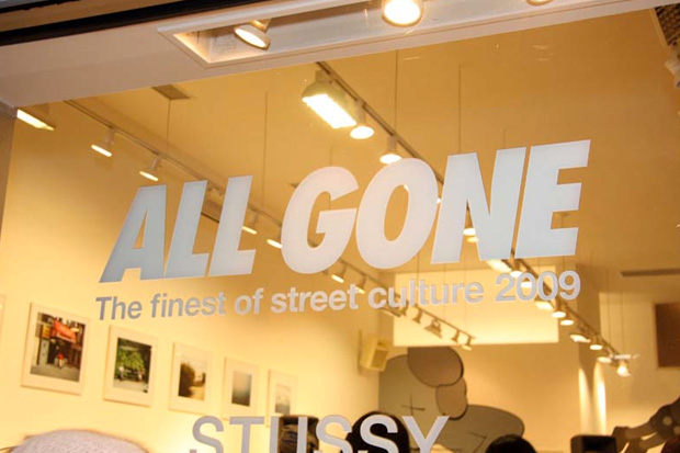 stussy clae all gone la event