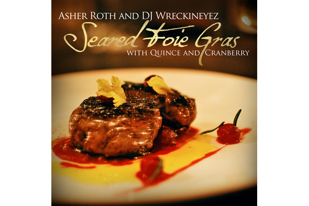 asher roth seared foie gras quince cranberry mixtape
