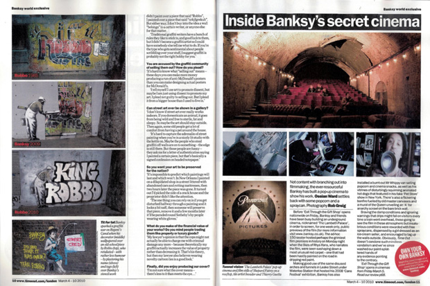 banksy time out london cover art 3 Banksy for Time Out London Magazine Cover Art
