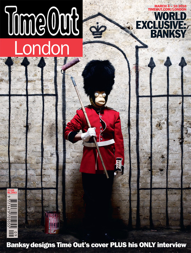 banksy time out london cover art 4 Banksy for Time Out London Magazine Cover Art