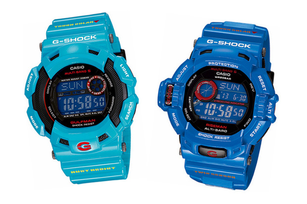 casio gshock 2010 march releases men earth blue