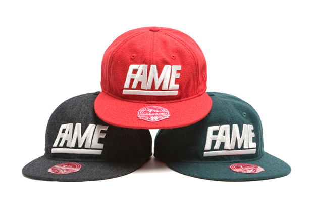hall fame mitchell ness fame fitted cap