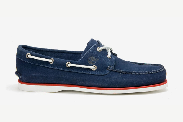 timberland saks avenue handsewn boat shoe collection