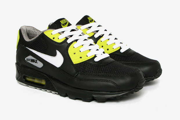 nike sportswear air max 90 premium blackvibrant yellow