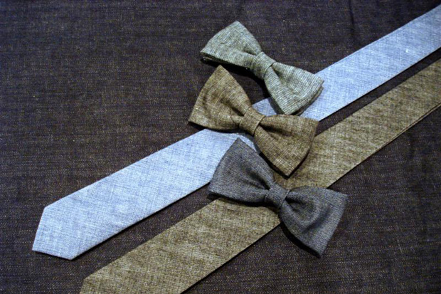 naked famous denim bow ties ties