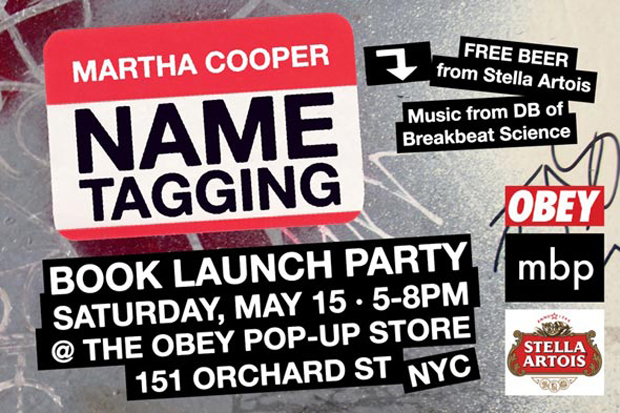 tagging martha cooper book launch party