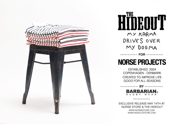 norse projects hideout barbarian rugby shirt preview