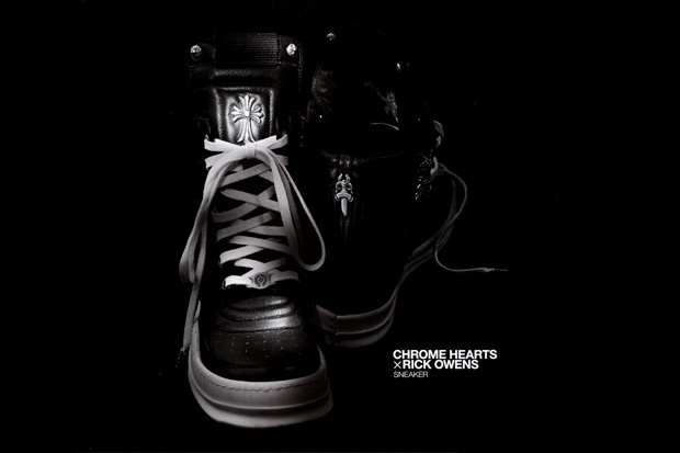 chrome hearts rick owens sneaker preview