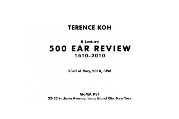terence koh lecture moma ps1