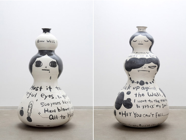 yoshitomo nara ceramic works exhibition recap