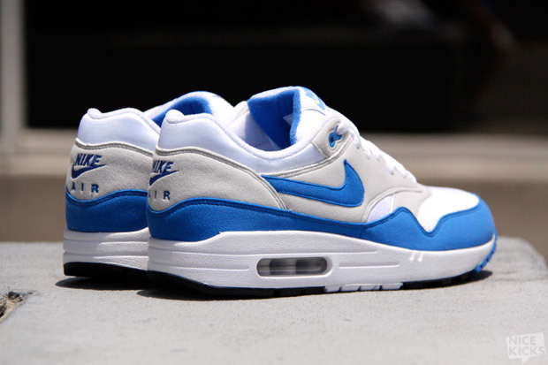 080642bd40 Nike brings back another classic in the Air Max 1 as we see a quickstrike  edition of its white/varsity royal/neutral grey ...
