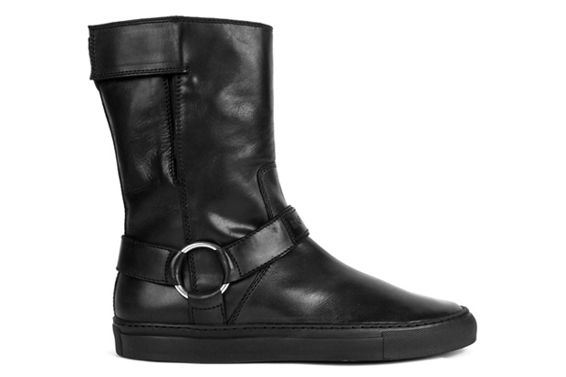 raf simons 2010 fallwinter leather velcro boots