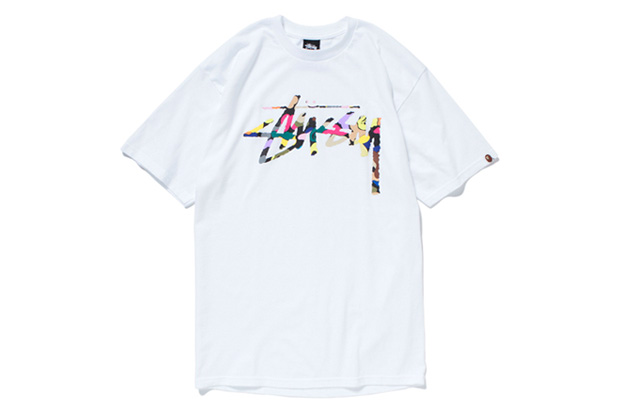 0244b35b Stussy have again used BAPE's original ABC camo and their own signature  logo for this collaborative tee which celebrates the L.A. brand's  impressive 30th ...