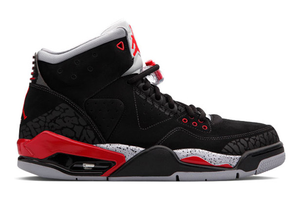 air jordan rare air black varsity red cement