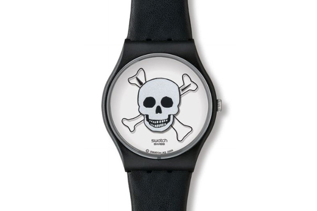 ivan navarro swatch stop die watch