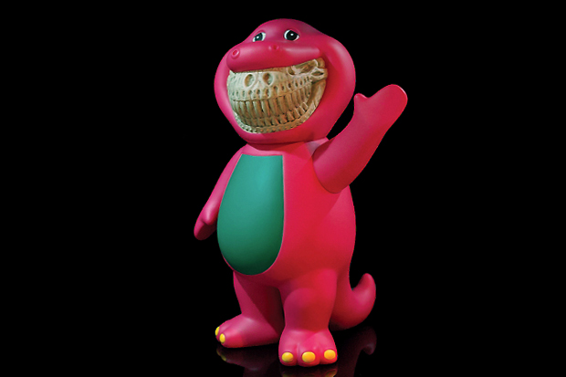 ron english monsters trex barney grin