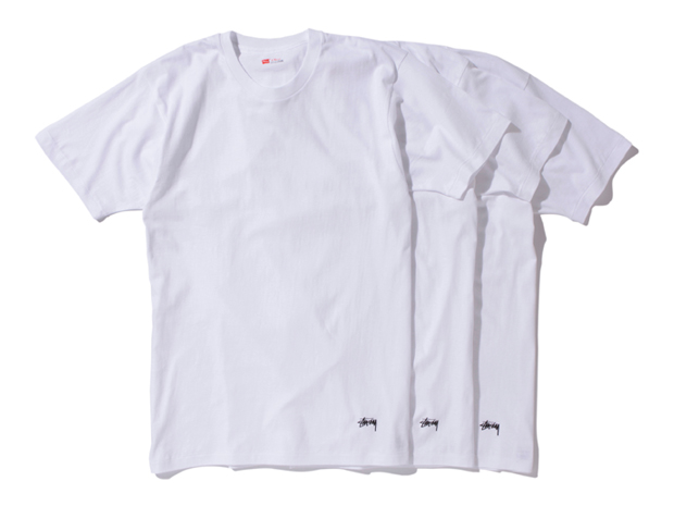 e104a557 Stussy x Hanes 3-Pack of T-shirts | HYPEBEAST