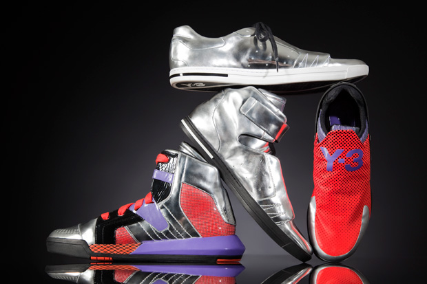 y3 metallic neo tech footwear collection