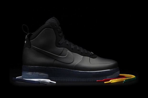 nike sportswear air force 1 high black foamposite preview