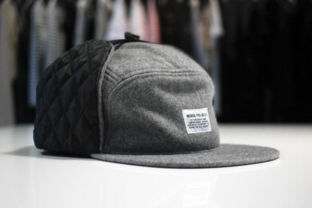 norse projects hunter earflap 5 panel caps