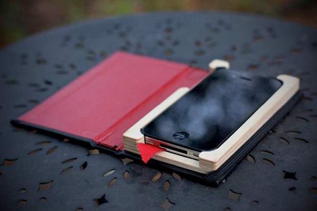 pad quill black book iphone case