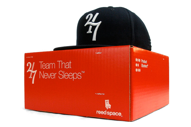reed space product etcetera twentyfourseven team sleeps fitted cap