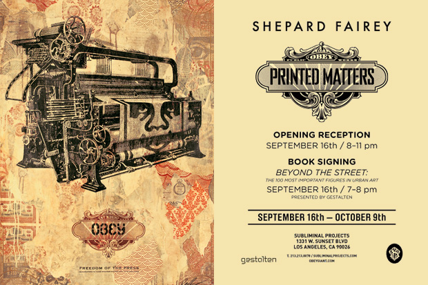 shepard fairey printed matters subliminal projects