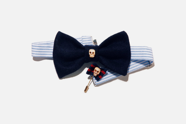 vanities beauty youth bow tie pin Vanities for Beauty & Youth Skull Bow Tie & Pin