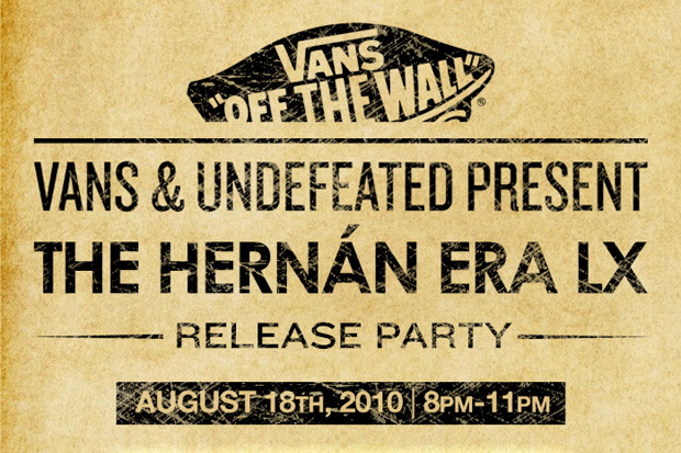 vans undefeated present hernan era lx release party