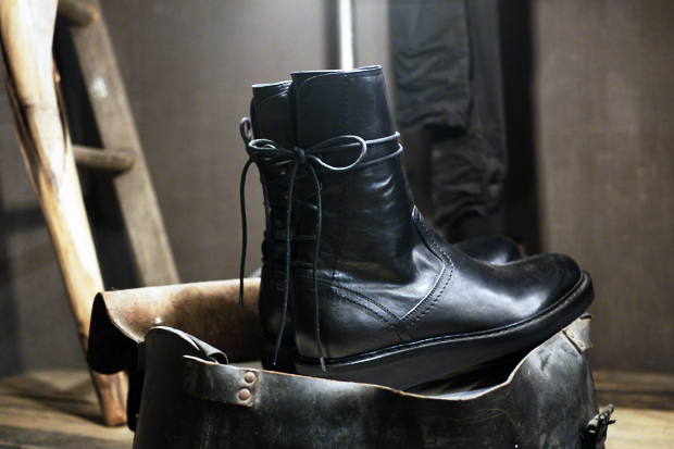 ann demeulemeester laced up boots