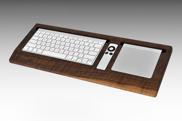 combine collective black walnut keyboard tray