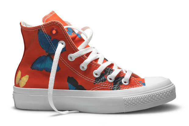 damien hirst x converse product red chuck taylor hi