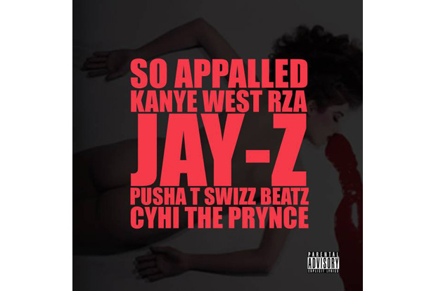 kanye west featuring rza jay z pusha t swizz beatz cyhi the prynce so appalled