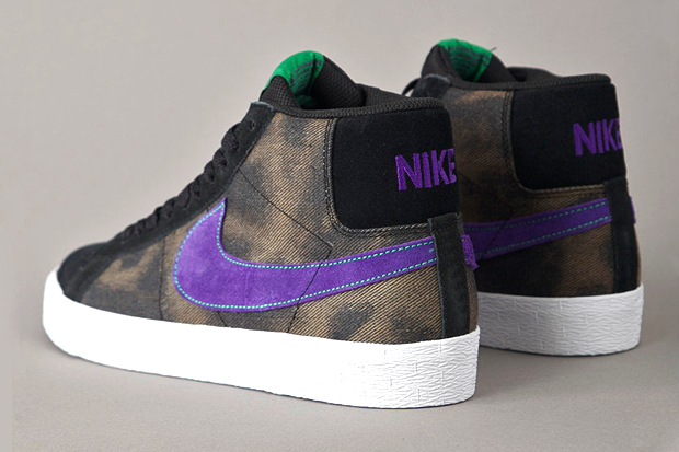 nike sb blazer blackvarsity purple
