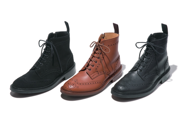sophnet x trickers wing tip boots