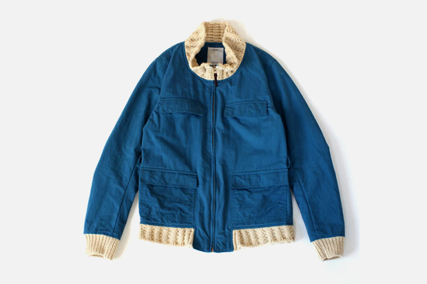 visvim redwood knit collar 0 visvim REDWOOD KNIT COLLAR Jacket