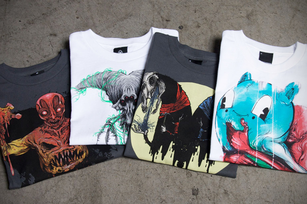 upper playground x alex pardee t shirt collection