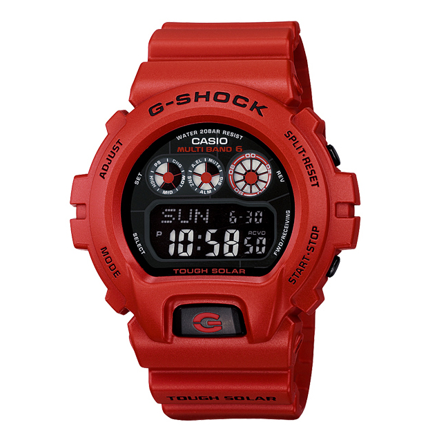 casio g shock burning red collection