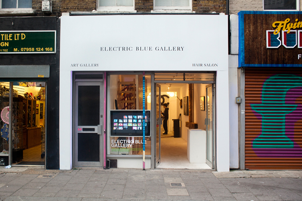 faces exhibition electric blue gallery recap