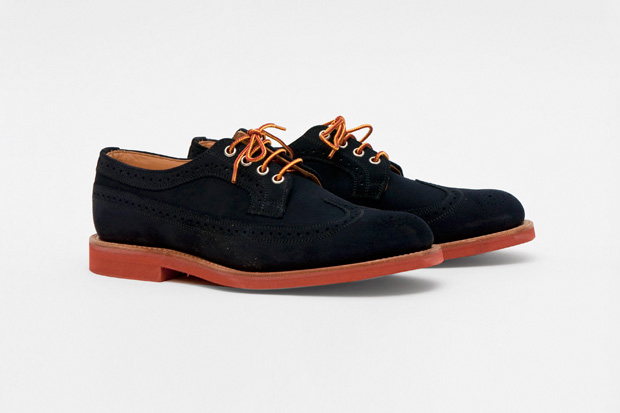 mark mcnairy suede long wing navy