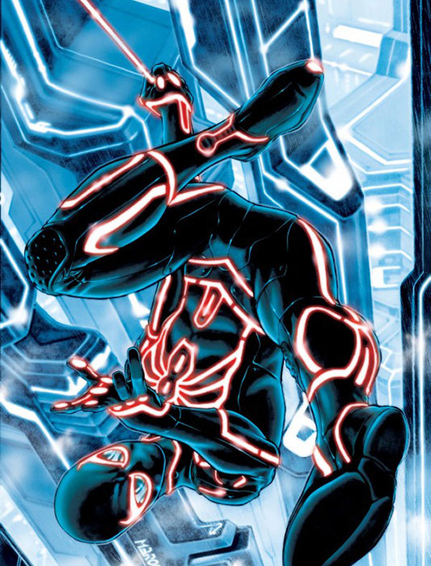 marvel super heroes x tron legacy comic book covers