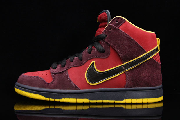 "Originally spotted back in April, Nike SB's ""Iron Man"" Dunk High finally  sees a release as the"