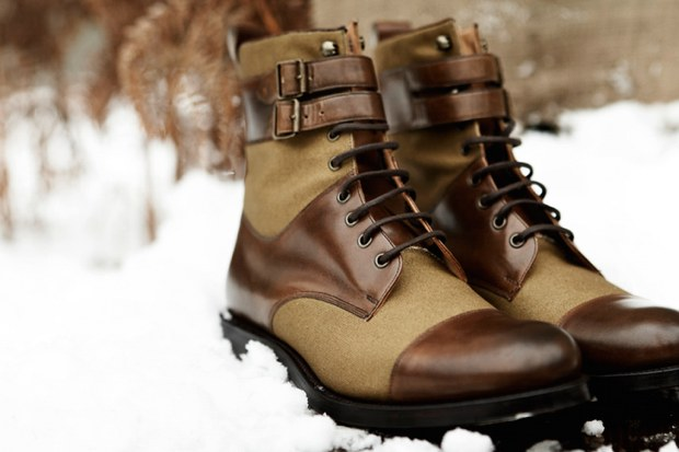 d s dundee 2010 fallwinter bannerman derby leather canvas boot