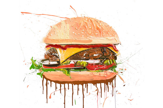 dave white cheeseburger painting