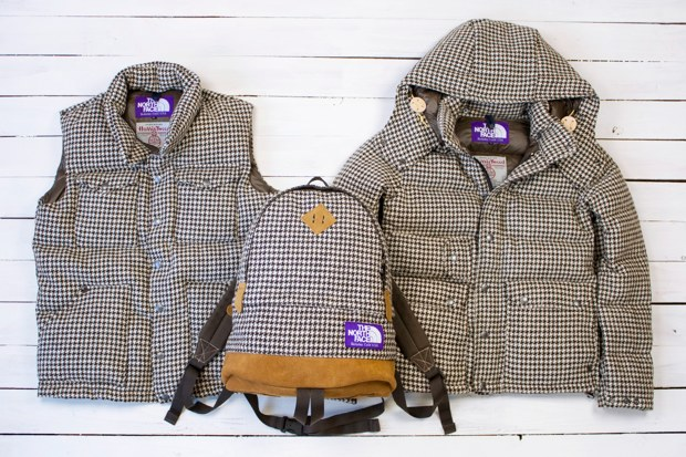 harris tweed x the north face purple label 2010 fallwinter houndstooth collection