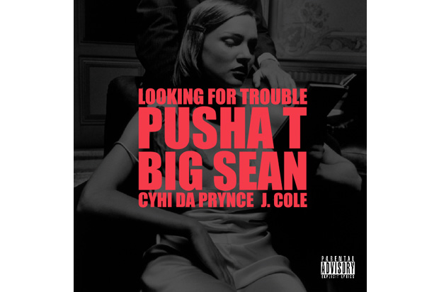kanye west featuring j cole pusha t big sean cyhi da prynce looking for trouble