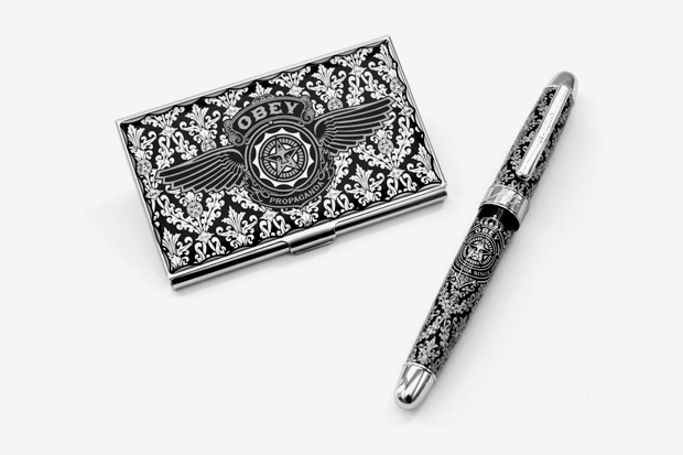 obey limited edition card case pen