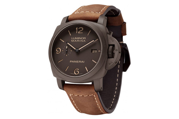 brown dial online luminor mens product watch panerai men watches acciao s