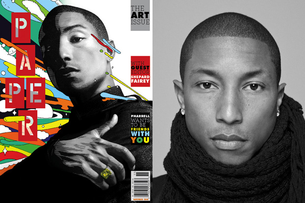 papermag 2010 november issue featuring pharrell williams shepard fairey